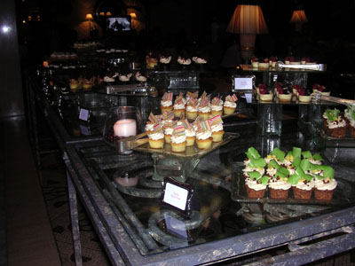 The display of cupcake goodness at the Ritz-Carlton's Saturday night Cupcake Buffet.