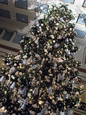 The big tree at the Walnut Room is a holiday must.