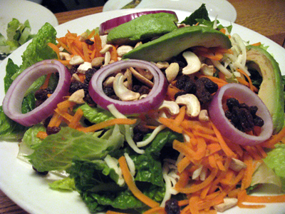 The Blind Faith salad is enough food to make your eyes bug out.