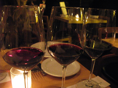 Enjoy the selection of wine flights at Fiddlehead!