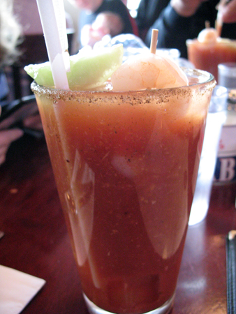A Livin' Large Bloody Mary -- one of the yummy treats we enjoy in the great city of Chicago!