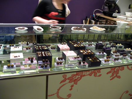 Many tasty truffles await a choc-o-holic at Vosges!