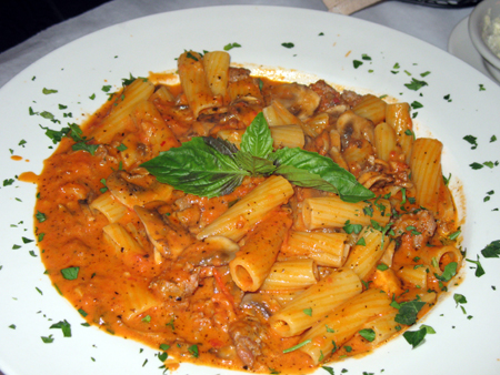 My meaty pasta dish was a hit at the table.