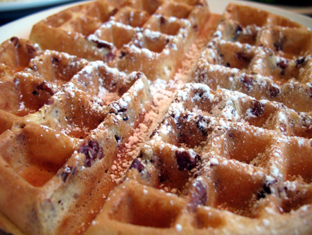 The pecan waffles at the Colonial Cafe hit the spot.