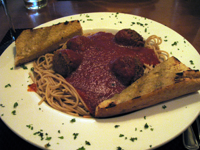 Spaghetti with meatballs is a Karyn's favorite and a filling meal.