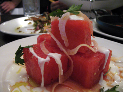 Sepia's watermelon salad is a lovely summer treat.