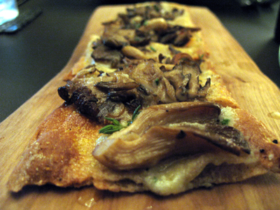 The mushroom flatbread proved to be a favorite at our table.