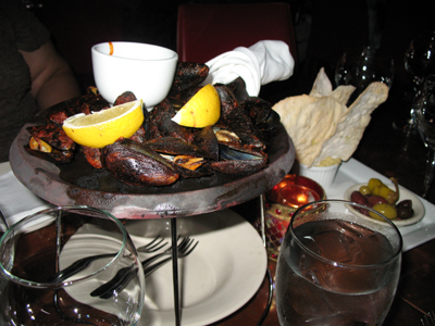 Fire-roasted mussels in harissa butter and olives were a few of the wonderful appetizers we enjoyed.