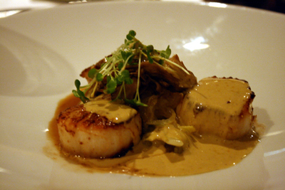 The diver scallops were lovely, but not as tasty as other seafood options we tried.