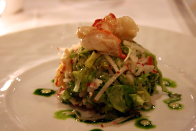 The Driskill Hotel offers excellent fine dining options including this lobster salad.