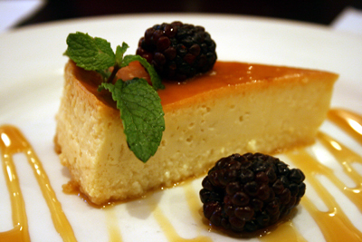 Manuel's flan tastes as good as it looks.