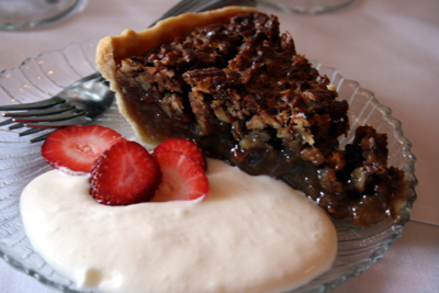 Pecan pie is the thing to get at the Old Pecan Street Cafe.