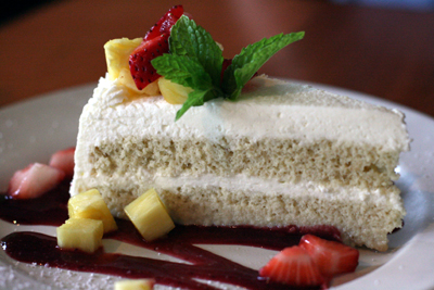 The tres leches cake was an outstanding recommendation by our waiter.