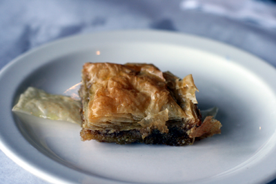Save room for baklava. It's the perfect finish to the meal.