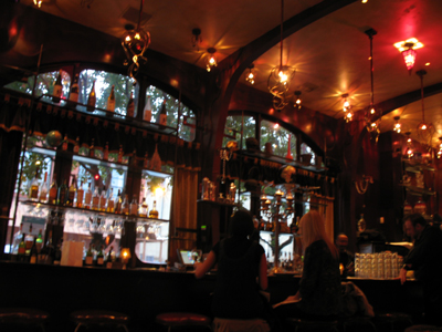 The funky interior at Red Light is similar to its sister restaurants Opera and Marche.
