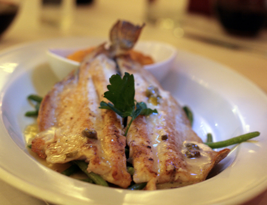 There were no crimes against fish at Mexique.  The trout was perhaps the best dish at the table.