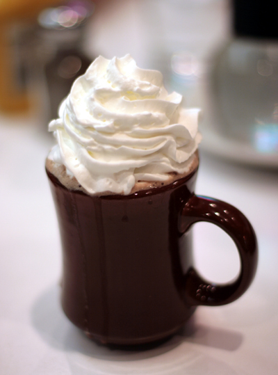If you have to be outside today, treat yourself to some hot chocolate.