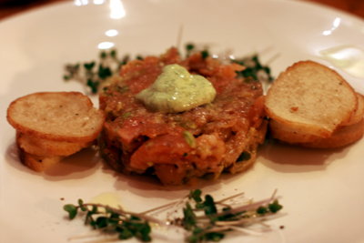 Smoked tuna tartar was one of the appetizer options at Province.