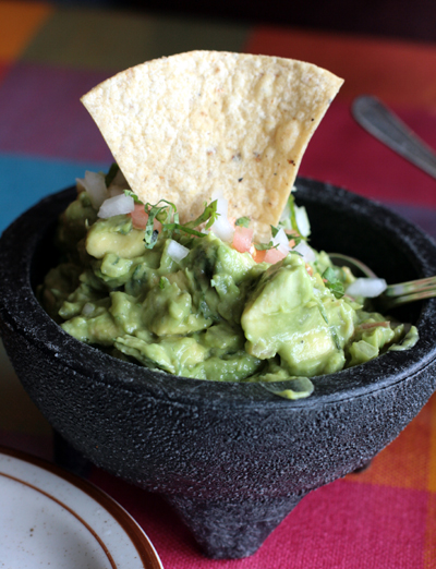 Freshly made guacamole is one of the many appetizers at Los Nopales.
