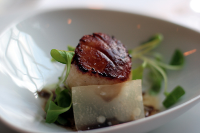 This scallop was perfectly prepared -- just like everything else we tried at Spiaggia.