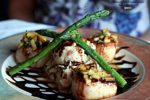 The diver scallops are sizable, and prepared well.