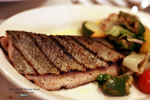 Fianco's trout is served with an accompaniment of flavors.