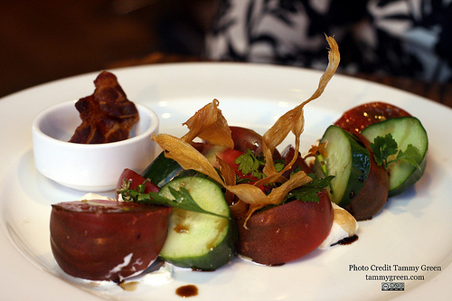 Nightwood's heirloom tomato appetizer was beautiful and tasty.