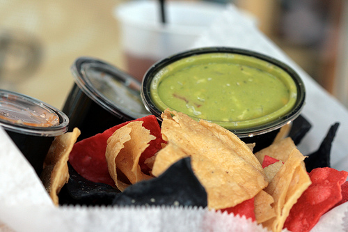 Tortilla chips & guacamole from the Park Grill.