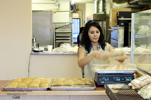 Tannourine Bakery has a wide selection of baked goods for sale as well as middle eastern canned goods.