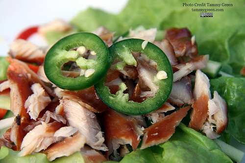The smoked trout lettuce wraps brought the heat.